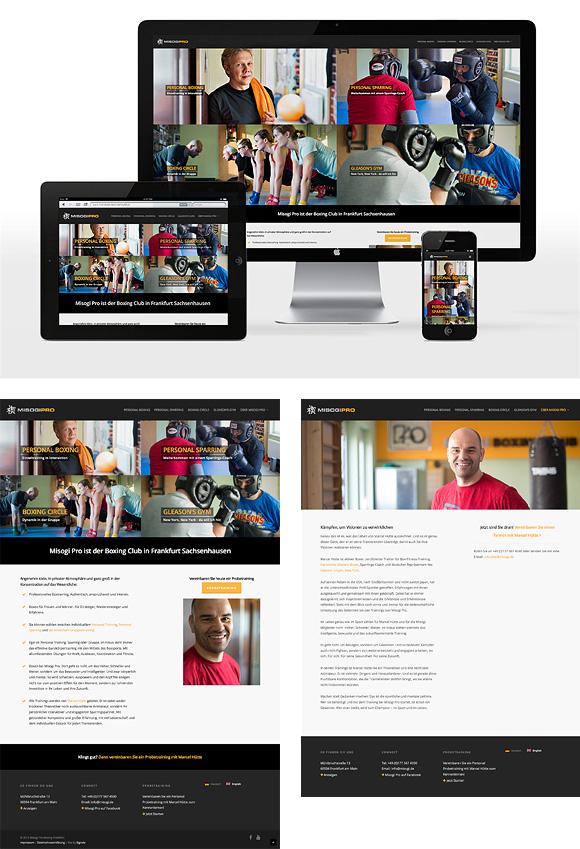Website design Sports Club